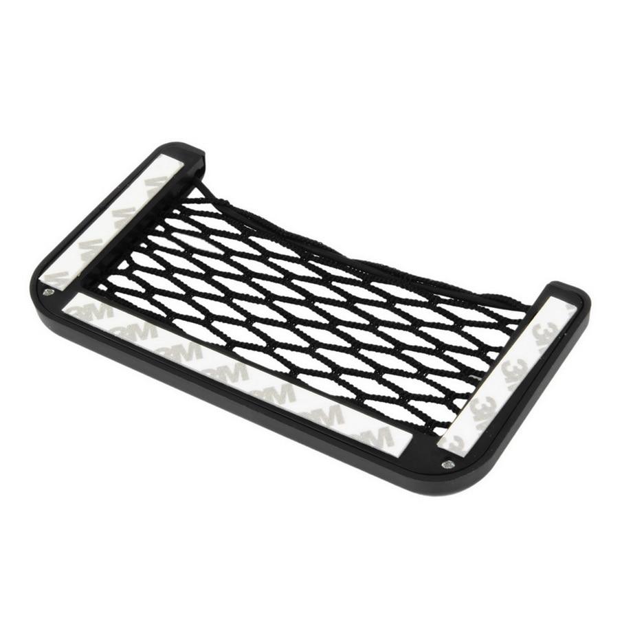 New Car Net Bag Car Organizer Nets 15X8cm Automotive Pockets With Adhesive Visor Car Bag Storage for tools Mobile phone Hot sale