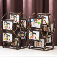 5 Inch Carved Photo Frame Metal Ferris Wheel Picture Frame High Quality 12pcs Photo Frame for Baby
