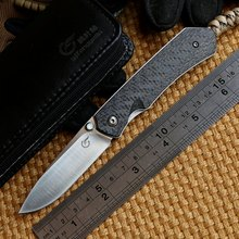 Ben Zero break TC4 titanium Liner carbon fiber handle M390 steel camping hunting outdoor camping  EDC tools fruit paring knife