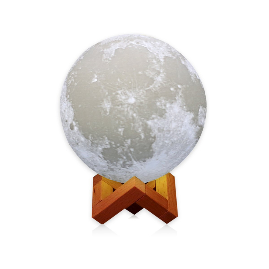 Dia 13CM/18CM Rechargeable Moon Light Lamp 2 Color Change Touch Switch Bedroom Bookcase Night Light Home Decor Creative Gift