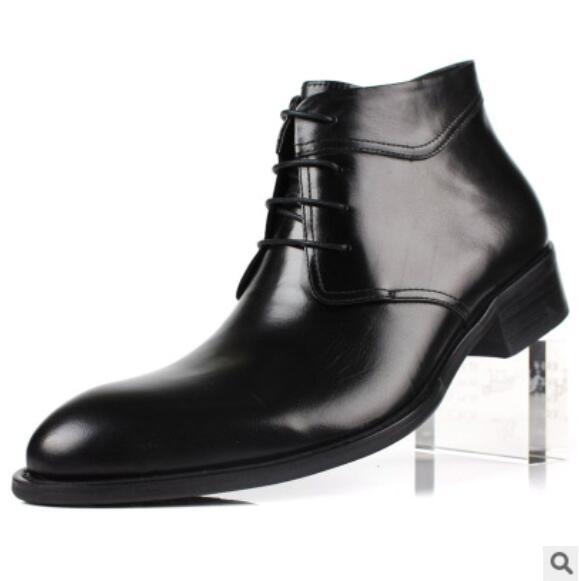 Ch Pisos Kwok Hombres Moda Invierno Tobillo Vino Motocicleta Encaje Cuero Zapatos Botas 1 2 Trabajo Oxfords Negro Sneakers Auténtico rRCqvHxrw