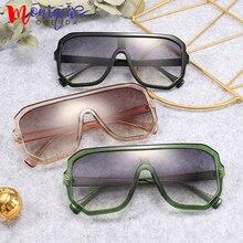 Sunglasses women oversize flat top retro square sun glasses