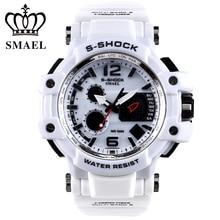 SMAEL Marca Blanca Reloj de Los Hombres LED Digital 50 M Impermeable Casual Watch S Masculino Choque Reloj relogios Hombres Regalo WS1509