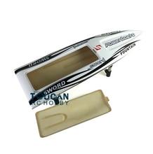 """E36 KIT 30 """"barca del RC Elettrico Ben Dipinto In Fibra di Vetro Monohull Barca Scafo solo per il Giocatore Avanzato Bianco TH02646"""