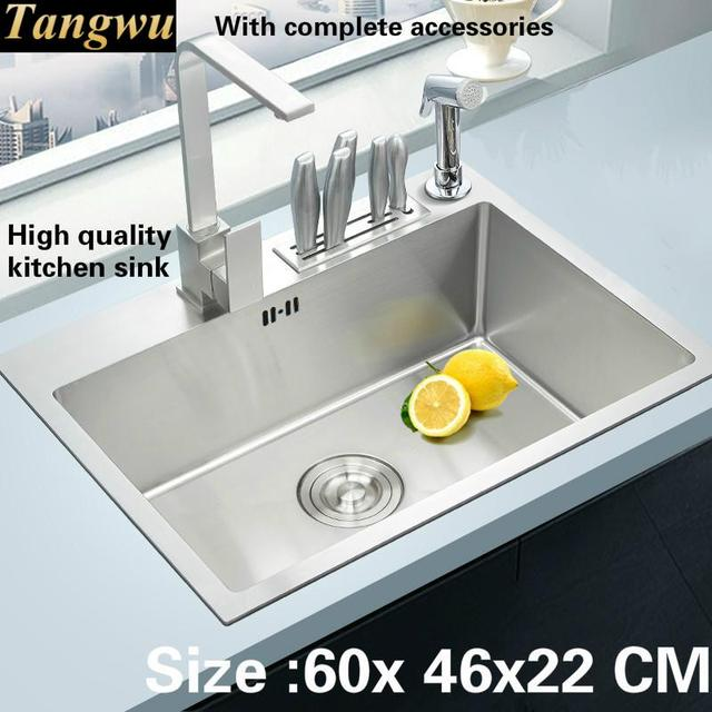 Tangwu Handmade High End Kitchen Sink 4 Mm Thick Food Grade 304 Stainless Steel