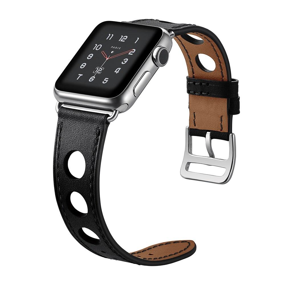 Correa de cuero genuino para Apple Watch band 42mm 38mm 44mm 40mm iwatch serise 4/3/2/1 correa de reemplazo reloj pulsera de muñeca
