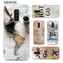 Transparent Soft Silicone Phone Case World Map Travel Just Go for Samsung Galaxy A9 A8 Star A7 A6 A5 A3 Plus 2018 2017 2016