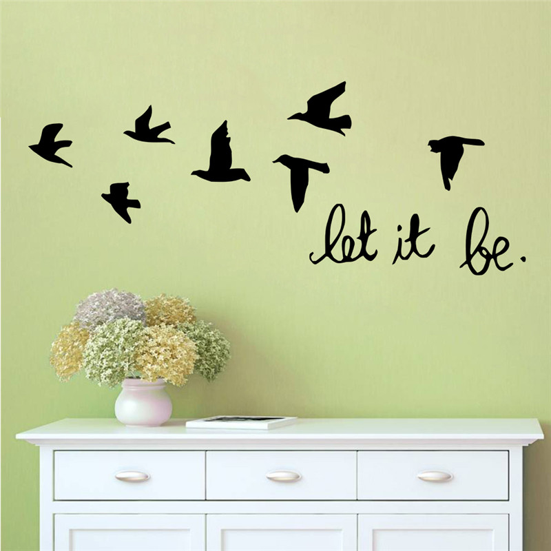 Aliexpress.com : Buy Home Party Kids Room Decoration Modren Family Wall  Stickers 8547Beautiful Birds Flies Let It Be In House Beautiful Free  Shipping From ... Part 57