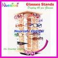 Giratorio de gafas de sol Eyewear vidrios vidrios tienda soportes de exhibición atrezzo muestran apoyos 40 unids gafas de sol On contador CK350-40