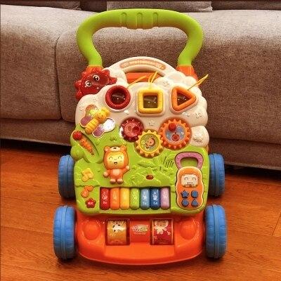 Bambino Trolley Bambino Camminatore Sit-a-stand Camminatore Per Bambini Di Apprendimento Precoce Educativo Musicale Del Bambino Regolabile In Primo Luogo Passi Go-cart