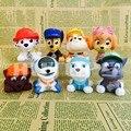 8 pçs/lote Banho Brinquedos Brinquedos Cão de Patrulha Patrulha Canina Patrulla Anime Brinquedos do cão do Filhote de Cachorro Em Russo Garoto de Brinquedo Para Criança presente