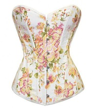 2014 New Floral Printing Corset