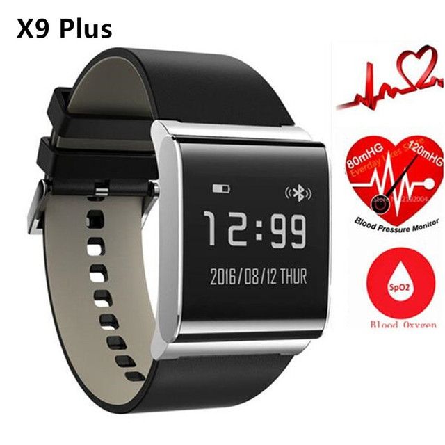 Bluetooth Smart Watches Heart Rate Monitor Wristband Uhoofit X9 Plus Waterproof Wristband Blood Pressure Oxygen Fitness Bracelet