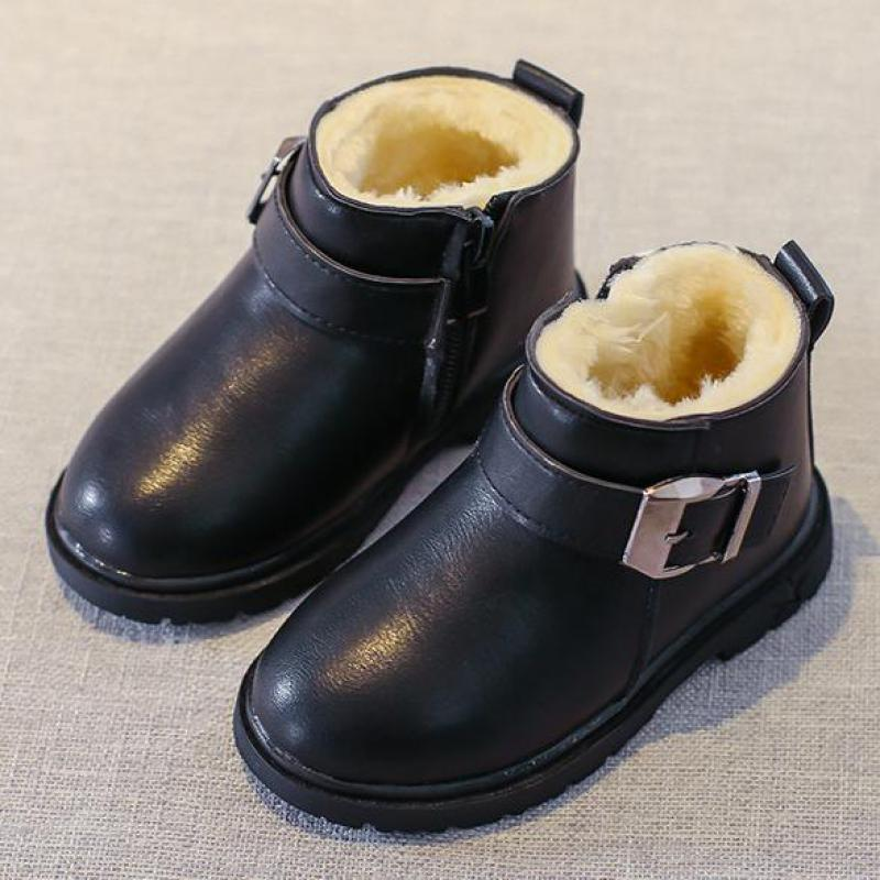 New 2018 Baby Boys Girls Boots Winter Keep Warm Children Snow Boot Thicken Children Cotton Shoes Pure Color Boy Shoes Bj17132 одежда на маленьких мальчиков