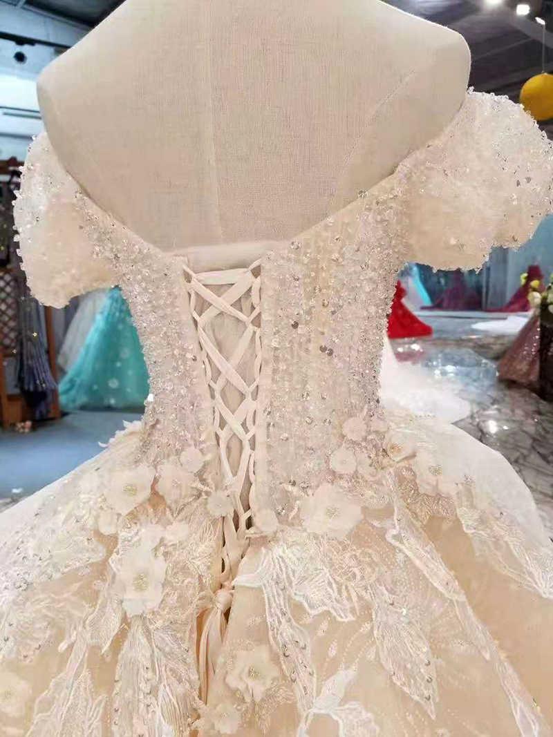... LS11034 fairy wedding dresses multi-layers skirt sweetheart puffy short  sleeves wedding gowns summer small ... 5e9b1a77b0d3