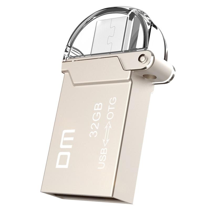 DM PD008 USB Flash Drive OTG USB 32GB Smartphone 16GB Pen Drive Micro USB Portable Storage Memory Metal 8GB USB Stick For Xiaomi