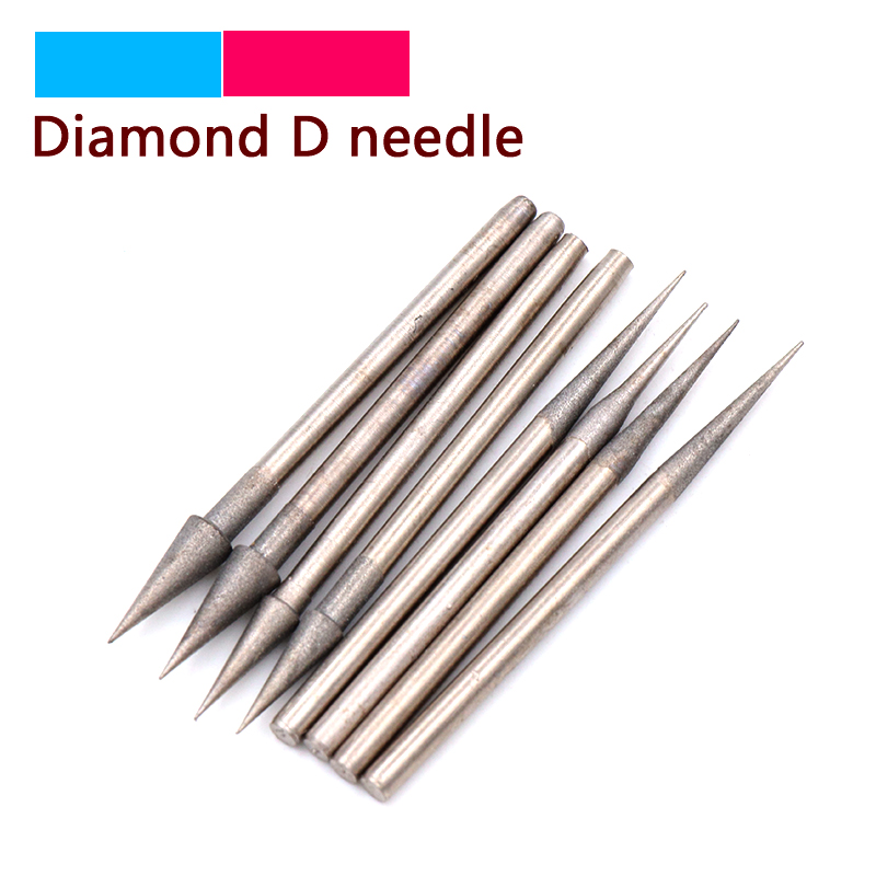 Hot 10/20pcs Grit 1200 Diamond Grinding Head Bits Burrs Sharp Metal Stone Jade Engraving Polishing Tools 2.35mm Shank D Needle