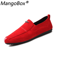 Man Leather Shoes Walking Ventilation Casual Men's Sapato Masculino Red Bottom Slip on Driving Moccasin Male Loafers Flat Shoes