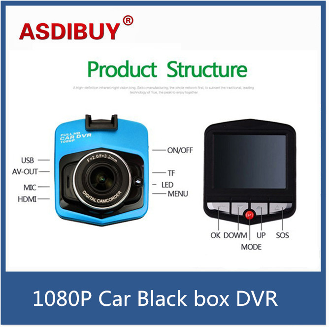 Mini Dash Camera DVR Cycle Recording G-Sensor Vision Vehicle 2.4 LCD Car DVR Camera Video Recorder Full HD 1080P sinbo rkn 12 blue
