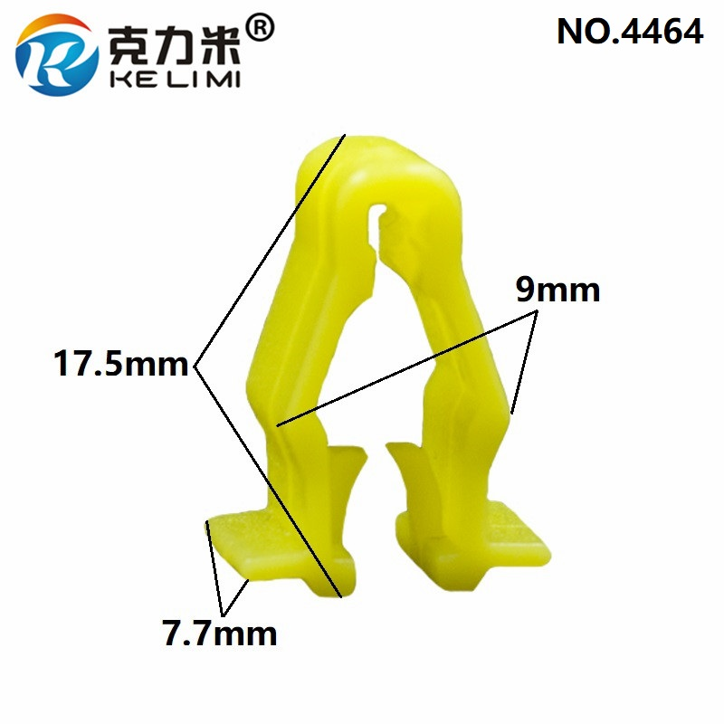 KE LI MI Yellow Wheel Arch Snap Fit Clip Trim Fixed Clip 90601 SMG 003 Auto Fastener Clips For Honda Civic CRV HRV in Auto Fastener Clip from Automobiles Motorcycles