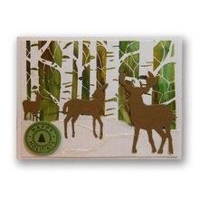 Deers Carbon steel Cutting Dies Stencil Craft for DIY Creative Scrapbook Cut Stamps Dies Embossing Paper Craft Greeting Card
