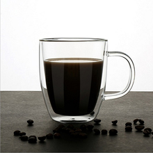 купить Coffee Cups Tea Set Mugs Beer Drink Office Mug Transparent Drinkware Double Glass Cup по цене 1432.89 рублей