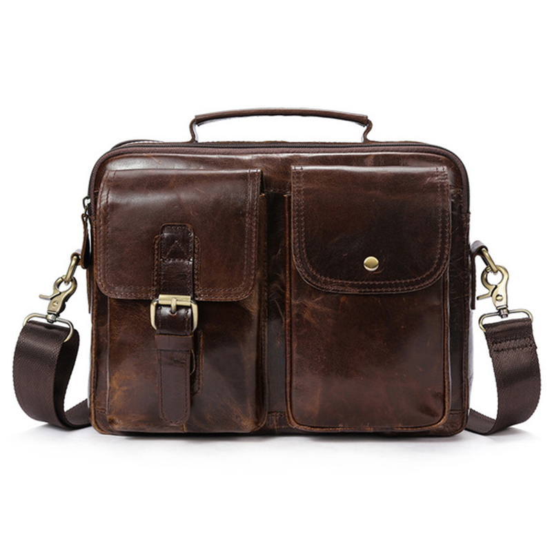 BEAU-MVA Messenger Bag Men's Genuine Leather Shoulder Bags Male Top-handle Hasp Leather Men Bag Crossbody Bags for men handbag