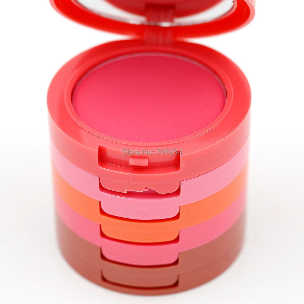 1 pcs 5 Cor Blush Maquiagem Blush Palette Matte E Gracioso Pó Full Size Net 40g M1008