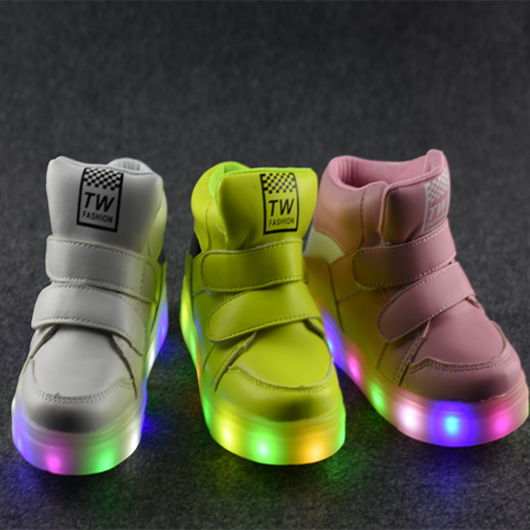 2017 New Autumn Shoes Children Gobon Light Sports Shoes Sneaker Shoes Wholesale LED Lamp