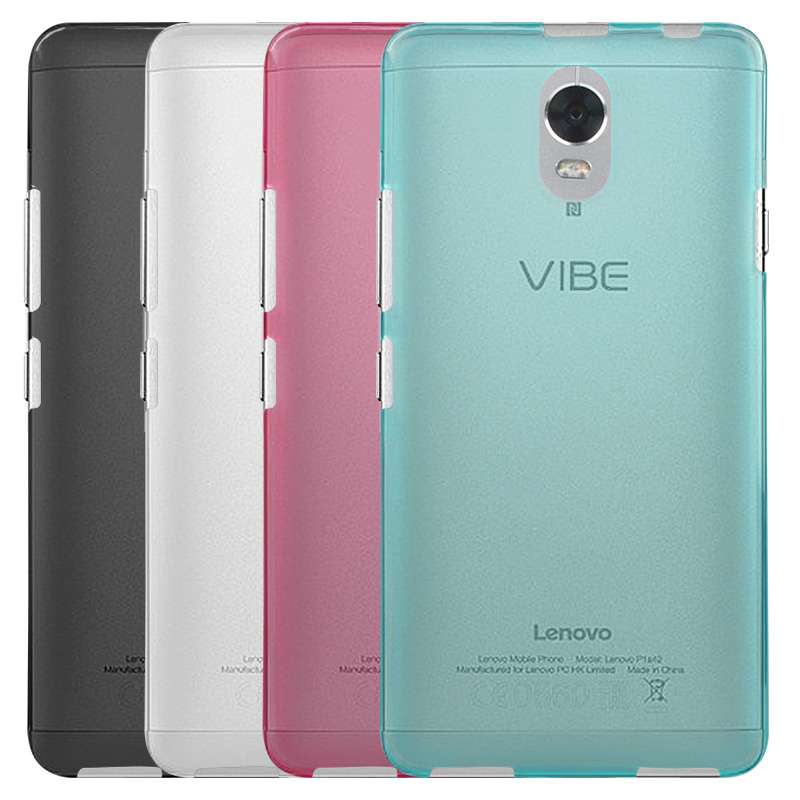 newest 7da79 d6b94 US $1.15 40% OFF|For Lenovo Vibe P1m Case Cover 4 colors Matte TPU Soft  Back Cover Phone Case For Lenovo Vibe P1m (5.0 inch)-in Phone Pouches from  ...