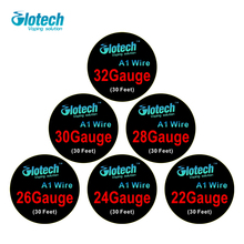 Glotech 10m/roll A1 Wire heating wires for electronic cigarette RDA RBA RTA Atomizer DIY Pre-built Coil heating Wires