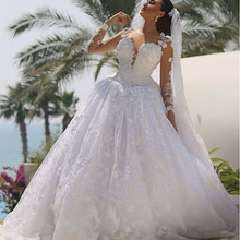 Fnoexw gown Wedding Dress With court train Bride Dresses