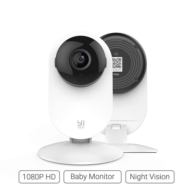 YI Home Camera 1080p Wireless IP Wifi Security Surveillance System Baby Monitor Night Vision Cloud International version (US/EU)