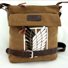 Attack on Titan Shingeki No Kyojin Survey Cops Canvas Shoulder Messenger Bag