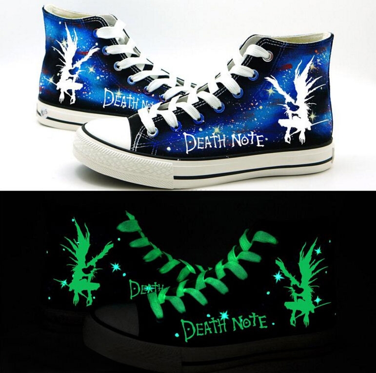 Death Note Cosplay Canvas Shoes Casual Shoes High Top Lovers Shoes Men And Women Student Shoes Size 35-43