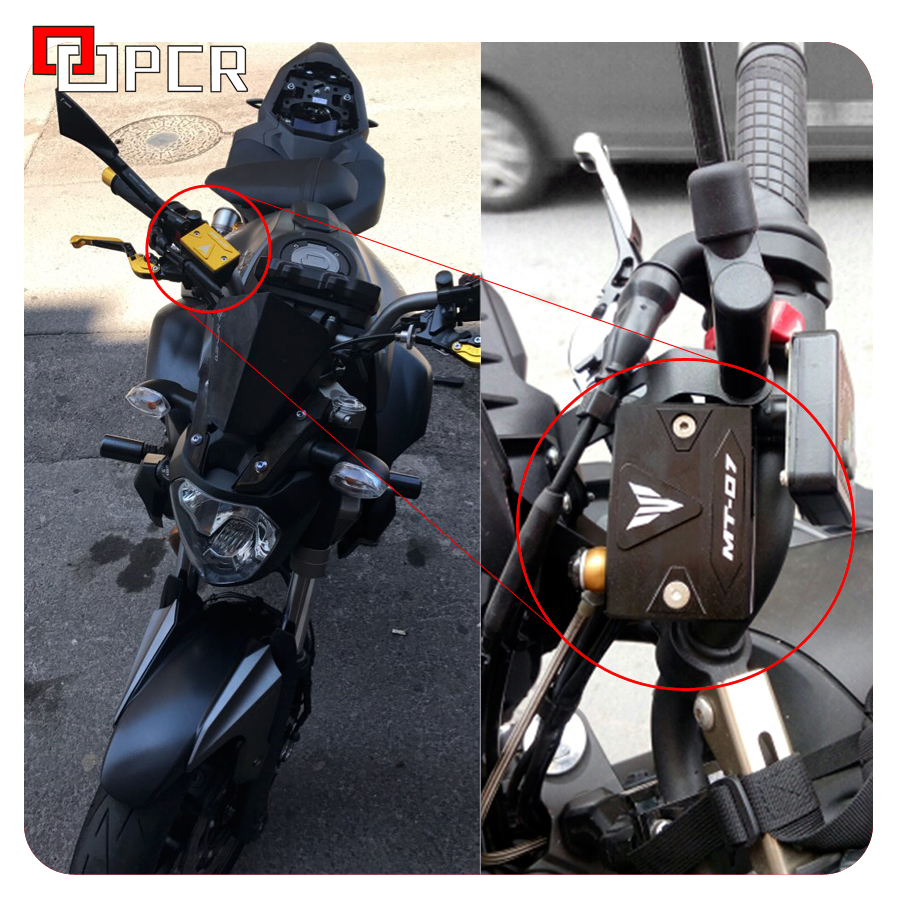 JDDRCASE Motorcycle Front Brake Fluid Reservoir Cap Cover for YAMAHA FZ8 FAZER 2010-2014