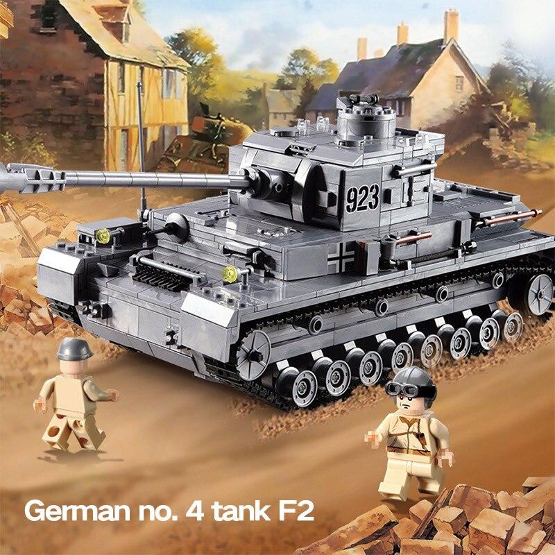 Créateur Blocs Technique Compatible LegoINGLYS WW2 Militaire Tigre Réservoir Armes Véhicule Blindé Briques Jouets Pour Enfants Garçons