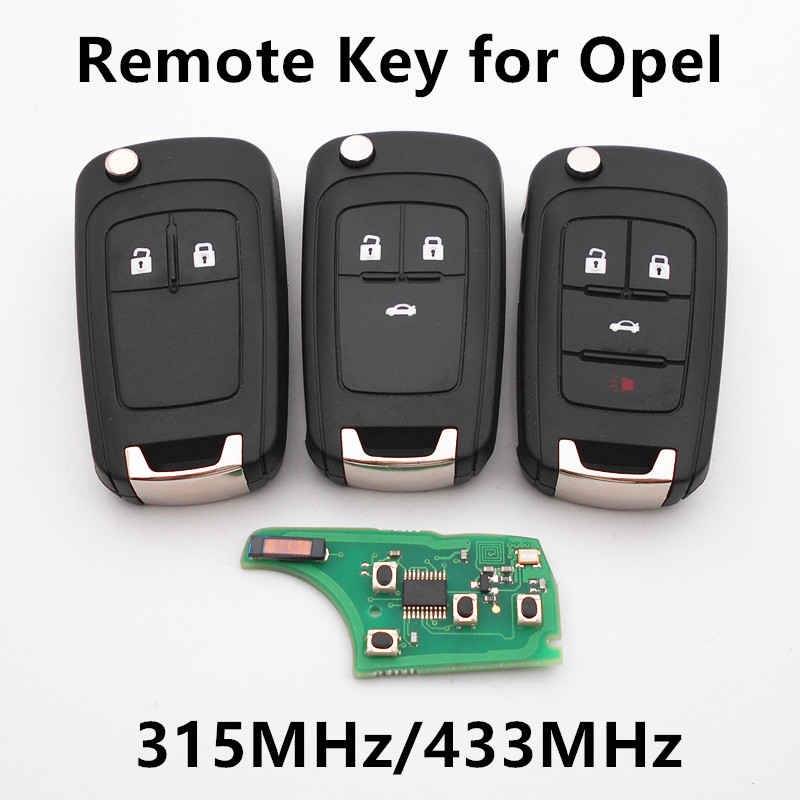 remote car key 315mhz 433mhz for for vauxhall opel. Black Bedroom Furniture Sets. Home Design Ideas