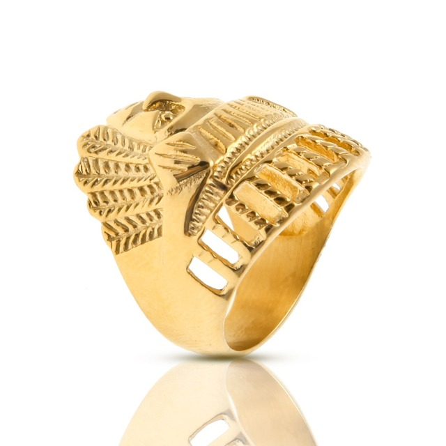 MCSAYS Jewelry Ring Hip Hop Indian Chiefs Exaggerate Index Finger