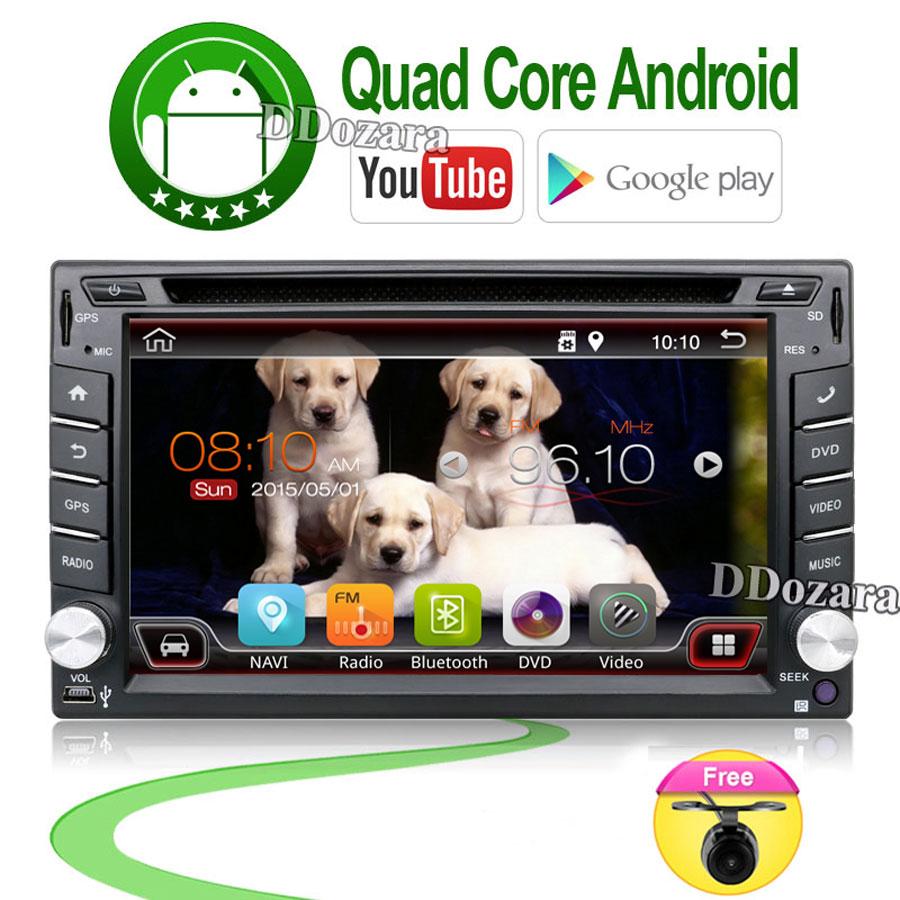 Prix pour 6.2 pouce 2 Din Android Voiture Dvd Lecteur Audio Stéréo pour Universel Gps Navigation Volant 2Din Radio Enregistreur Wifi Carte Cam
