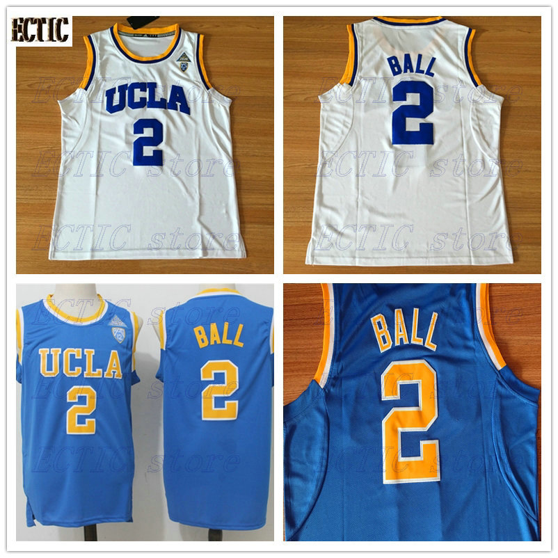 new concept 8fe6a 416b2 2018 ECTIC Mens Russell Westbrook #2 UCLA Bruins Blue white 100% Stitched  Basketball Jersey Stitched Embroidery Logos-in Basketball Jerseys from ...
