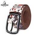 2016 Unisex  Korean version belt vintage handmade genuine leather belt  jeans retro Belt Buckle high fashion belt