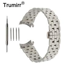 Ремешок из нержавеющей стали для часов, изогнутый браслет с застежкой бабочкой для наручных часов Breitling, 18 мм 20 мм 22 мм 24 мм