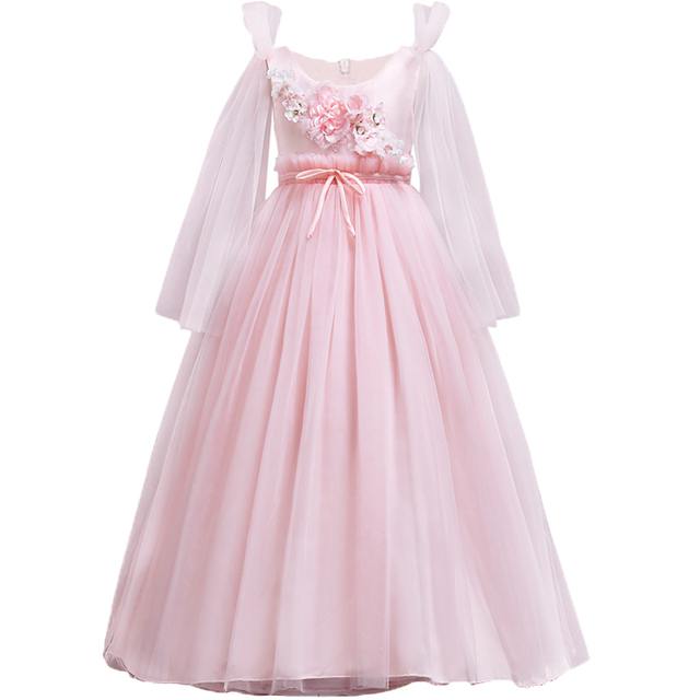 c423c8507b Christmas Flower Girl Dress for Kid Girls First Communion Dresses Tulle  Wedding Princess Costume For party dress teens prom