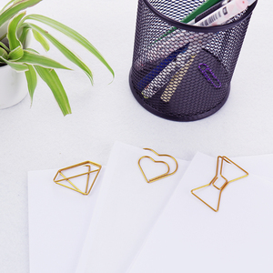 Image 2 - TUTU 30PCS/LOT high quality Paperclip Book Mark Bow Clip Accessories Bookmark Bookend Clip Metal Paper Clip Gold Paperclip H0030