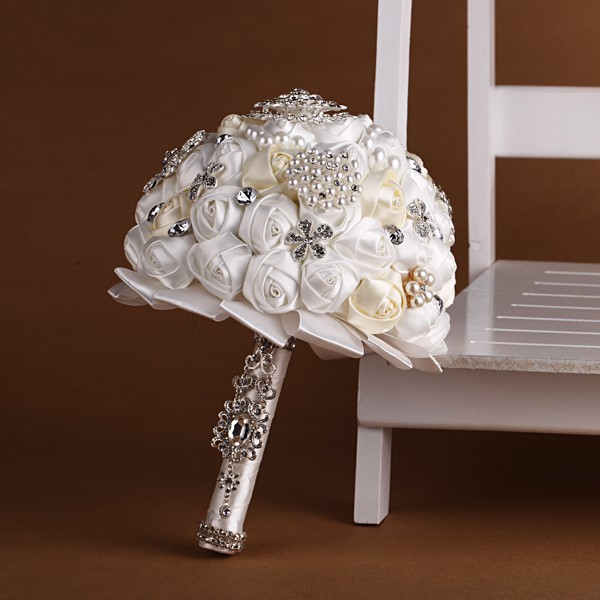 Handmade High Quality Wedding Bouquet Bridal Bride Artificial Silk ...