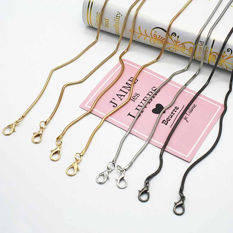 Metal Strap Handbag Snake Chain Handles Lantern Chain Shoulder Strap Purse Strap Accessories Bag Hardware