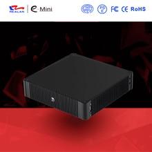 Новое поступление высокое качество безвентиляторный Мини-ПК Intel четырехъядерный процессор Mini промышленного ПК с HDMI + VGA Windows Linux Android