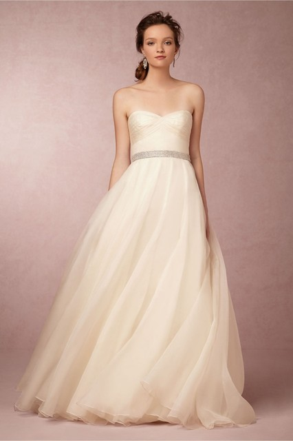 Strapless Wedding Dress Patterns Chiffon A Line Chiffon Simple Gowns ...