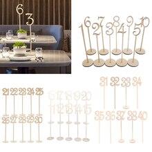 30 pezzi di Legno Non Finiti Da Tavolo Numero 1  30 Segni Desk Decorazione per la Festa A Casa di Nozze Di Compleanno Anniversario